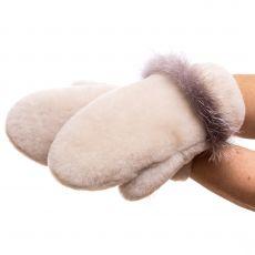 Мутоновые варежки Снежинка